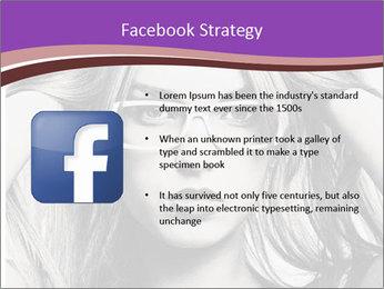 Portrait of beautiful blond woman PowerPoint Template - Slide 6