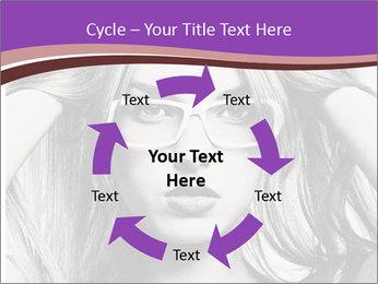 Portrait of beautiful blond woman PowerPoint Template - Slide 62