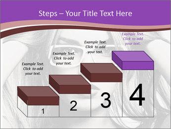Portrait of beautiful blond woman PowerPoint Template - Slide 64