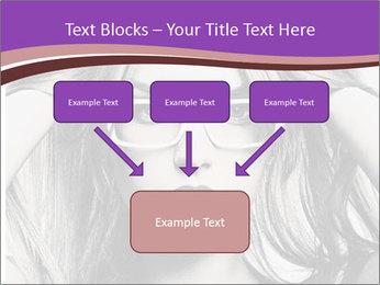 Portrait of beautiful blond woman PowerPoint Template - Slide 70