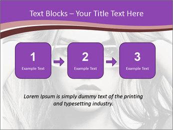 Portrait of beautiful blond woman PowerPoint Template - Slide 71