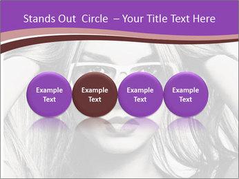 Portrait of beautiful blond woman PowerPoint Template - Slide 76