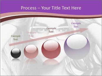 Portrait of beautiful blond woman PowerPoint Template - Slide 87