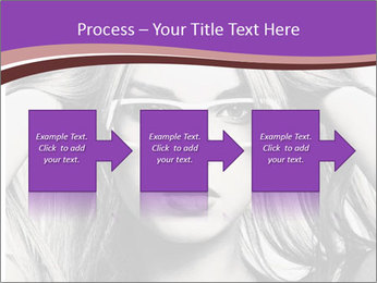 Portrait of beautiful blond woman PowerPoint Template - Slide 88