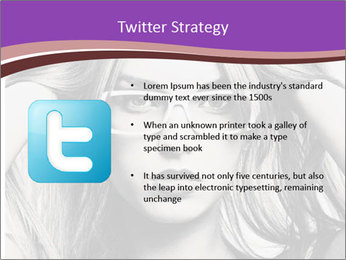 Portrait of beautiful blond woman PowerPoint Template - Slide 9