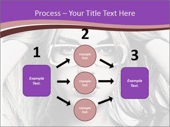 Portrait of beautiful blond woman PowerPoint Template - Slide 92
