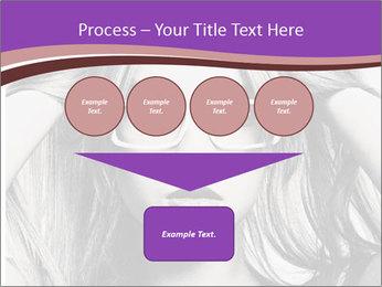 Portrait of beautiful blond woman PowerPoint Template - Slide 93