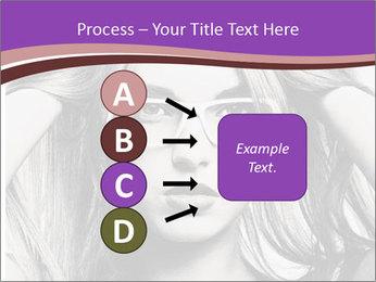 Portrait of beautiful blond woman PowerPoint Template - Slide 94