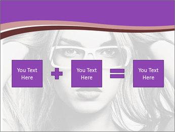 Portrait of beautiful blond woman PowerPoint Template - Slide 95