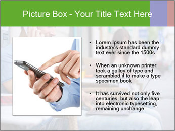 Woman with cell phone and the man with laptop PowerPoint Templates - Slide 13