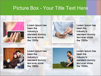 Woman with cell phone and the man with laptop PowerPoint Templates - Slide 14