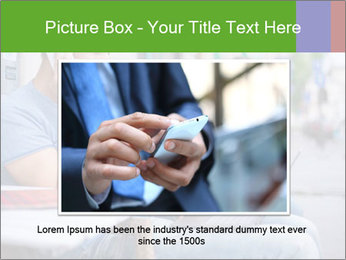 Woman with cell phone and the man with laptop PowerPoint Templates - Slide 16