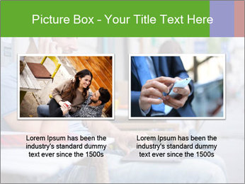 Woman with cell phone and the man with laptop PowerPoint Templates - Slide 18