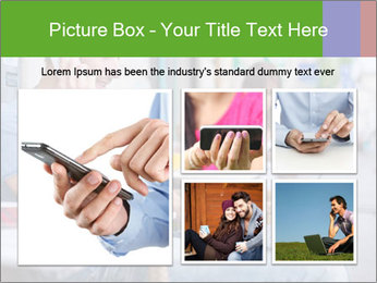 Woman with cell phone and the man with laptop PowerPoint Templates - Slide 19
