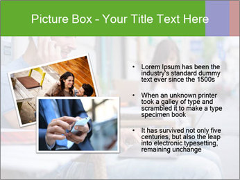 Woman with cell phone and the man with laptop PowerPoint Templates - Slide 20
