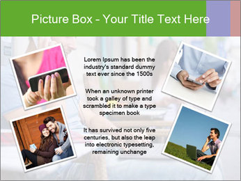 Woman with cell phone and the man with laptop PowerPoint Templates - Slide 24