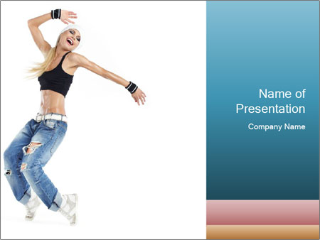 Young and beautiful dancer posing PowerPoint Template