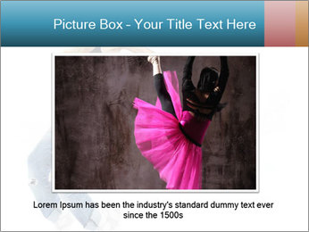 Young and beautiful dancer posing PowerPoint Template - Slide 15