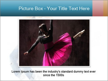 Young and beautiful dancer posing PowerPoint Template - Slide 16