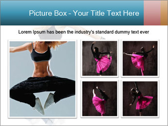 Young and beautiful dancer posing PowerPoint Template - Slide 19