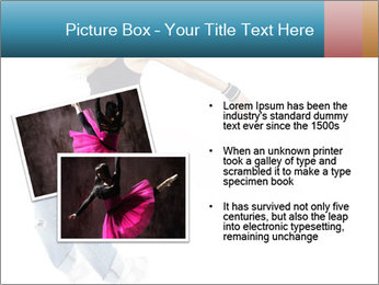 Young and beautiful dancer posing PowerPoint Template - Slide 20