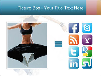 Young and beautiful dancer posing PowerPoint Template - Slide 21
