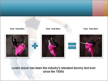 Young and beautiful dancer posing PowerPoint Template - Slide 22