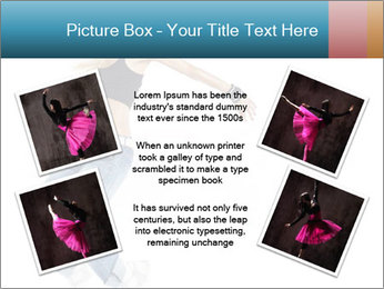 Young and beautiful dancer posing PowerPoint Template - Slide 24