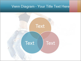 Young and beautiful dancer posing PowerPoint Template - Slide 33