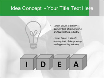 Man's hands PowerPoint Template - Slide 80