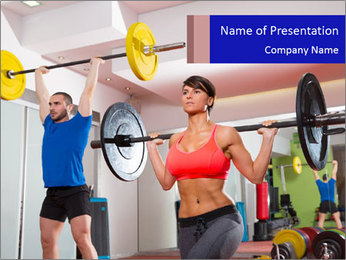 Crossfit fitness gym PowerPoint Template