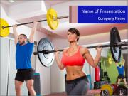Crossfit fitness gym PowerPoint Templates