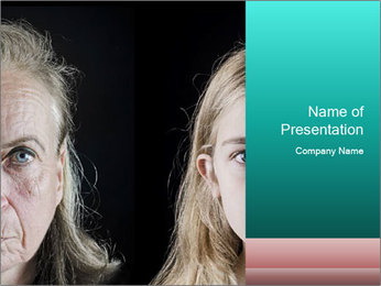 Young vs old PowerPoint Template