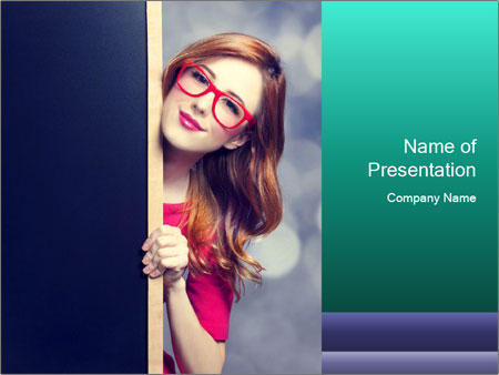 Redhead student PowerPoint Templates