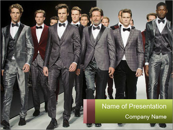 Male model PowerPoint Templates - Slide 1