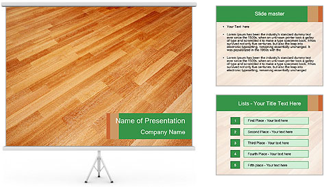 New oak parquet PowerPoint Template