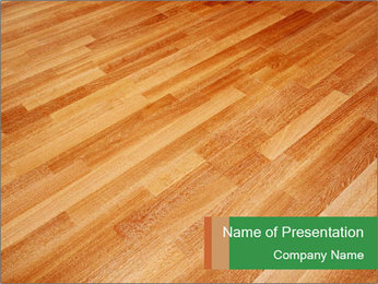 New oak parquet PowerPoint Template - Slide 1