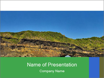 Hole in the wall PowerPoint Template