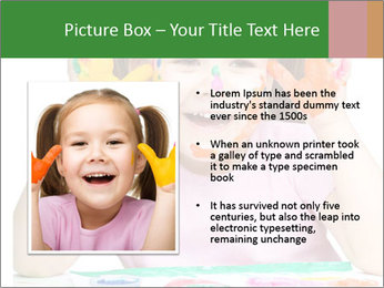 Portrait of a cute cheerful girl PowerPoint Template - Slide 13