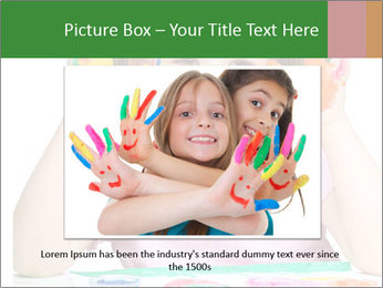 Portrait of a cute cheerful girl PowerPoint Template - Slide 15