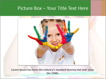 Portrait of a cute cheerful girl PowerPoint Template - Slide 16