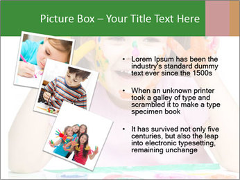 Portrait of a cute cheerful girl PowerPoint Template - Slide 17