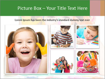 Portrait of a cute cheerful girl PowerPoint Template - Slide 19