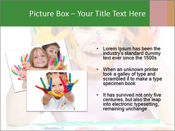 Portrait of a cute cheerful girl PowerPoint Template - Slide 20