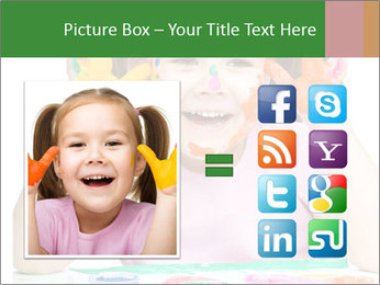 Portrait of a cute cheerful girl PowerPoint Template - Slide 21