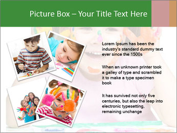 Portrait of a cute cheerful girl PowerPoint Template - Slide 23