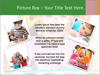 Portrait of a cute cheerful girl PowerPoint Template - Slide 24