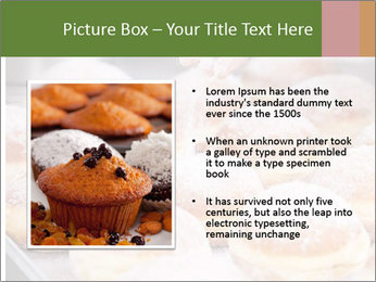Baker pours sugar over pastry PowerPoint Template - Slide 13