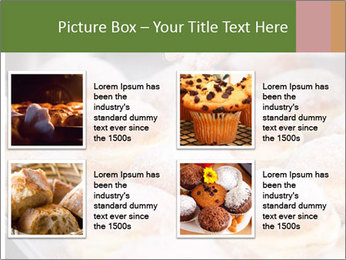 Baker pours sugar over pastry PowerPoint Template - Slide 14