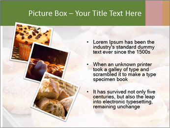 Baker pours sugar over pastry PowerPoint Template - Slide 17